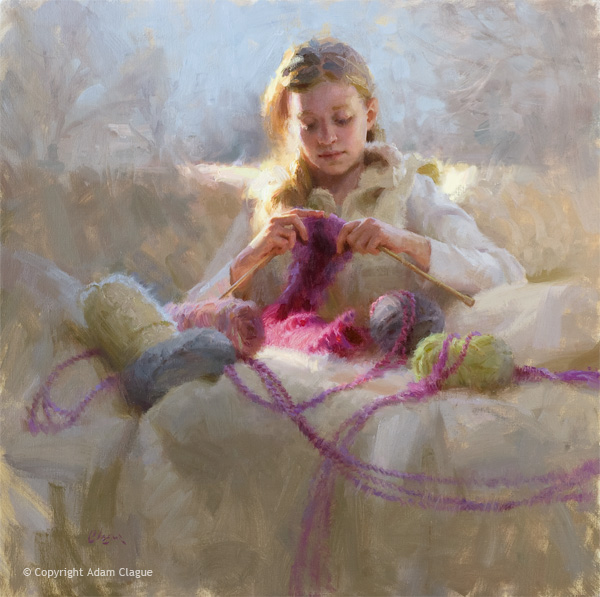 oil-painting-adam-clague-figurative-knitters-gift