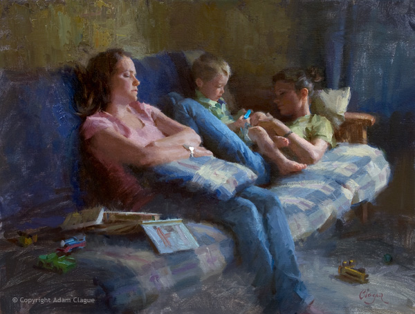 oil-painting-clague-figurative-babysitters